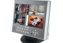 Монитор 10 дюймов со встроенным регистратором (4 Video/2 Audio. USB, Детектор движения)