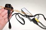 Миниатюрная видеокамера (датчик движения, невидимая ночная съемка, запись на карту) с креплением и зарядным устройством на 5-8 часов работы