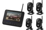 Беспроводная система видеонаблюдения из 4-х камер и монитора-регистратора. (Удаленный просмотр через приложение для IOS и Android)