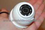 Миниатюрная потолочная антивандальная видеокамера с ночной подсветкой MVK615.